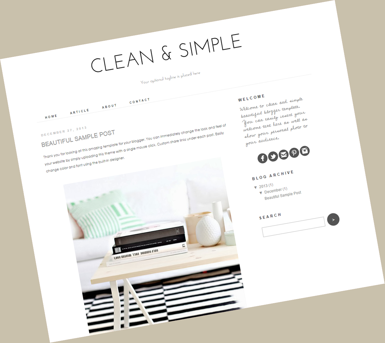 Clean simple blogger theme fashion for Blogger product review template