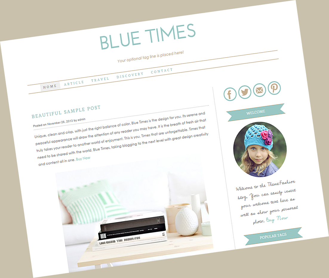 Thème WordPress Blue Times par Theme Fashion