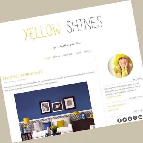 wordpress-theme-yellowshines