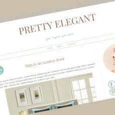 pretty elegant blogger template