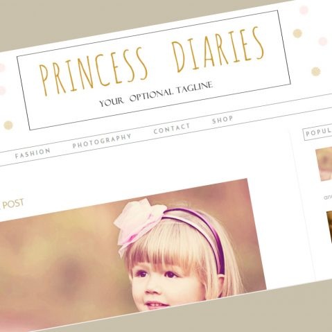 princess blogger template